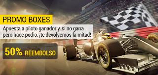 bwin promocion 50 euros F1 GP de Bélgica 27 agosto