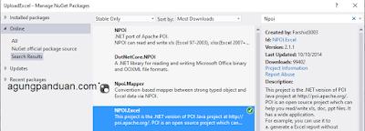 NPOI.EXCEL ASP.NET MVC