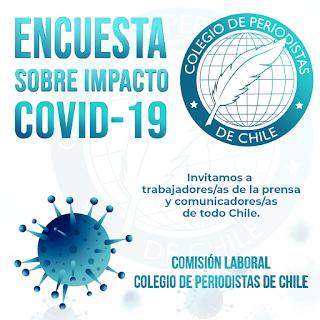 """Colegio de Periodista de Chile lanza """"Encuesta COVID-19"""" para conocer situación de trabajadoras y trabajadores de las comunicaciones"""