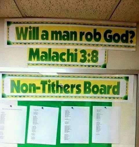 Check out how this church disgraced members who refused to pay tithe