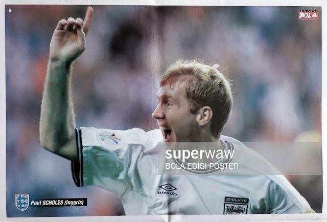 PAUL SCHOLES OF ENGLAND ON EURO 2000