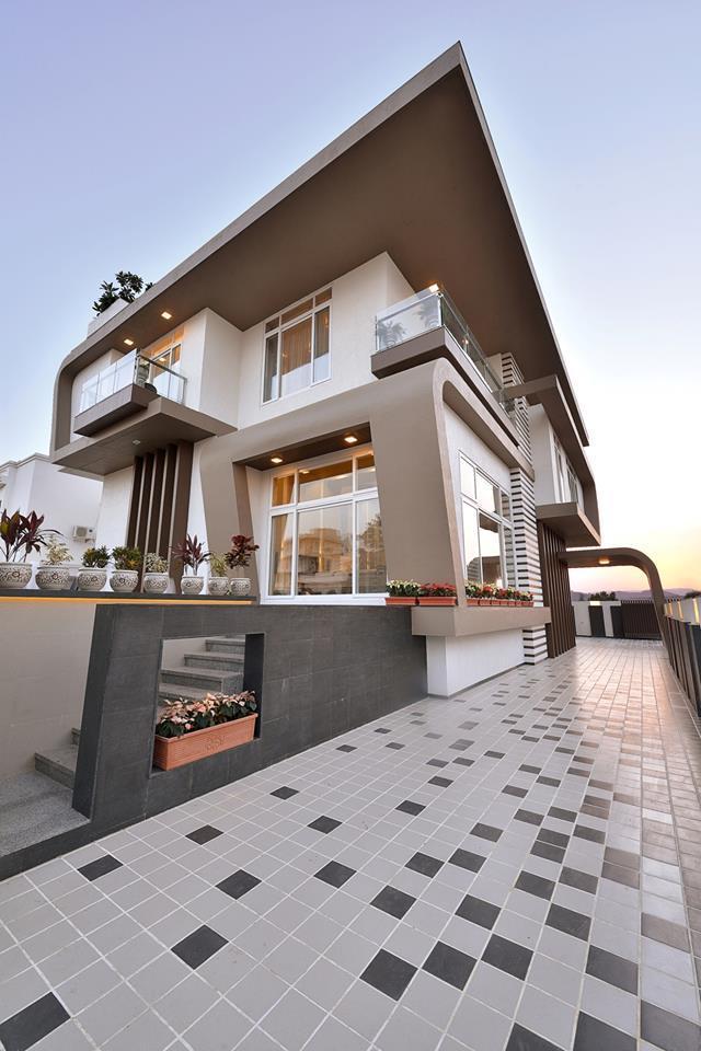 Modern residences exterior small villas designs ideas for Villa exterior design ideas