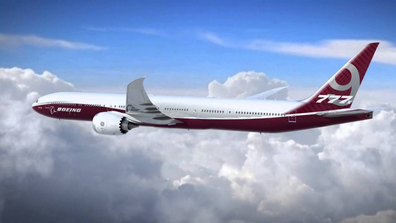 Boeing 777X Animated Video for Wallpapers