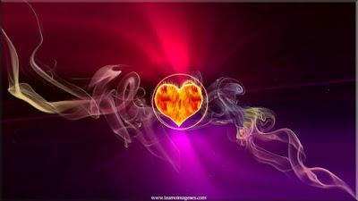 Fondos de pantalla de corazones de diferentes colores
