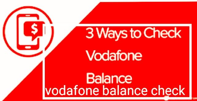 vodafone balance check
