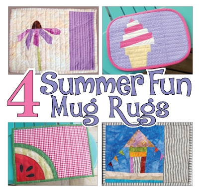Four Summer Fun Mug Rugs