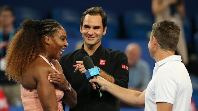 Roger Federer Kalahkan Serena Williams