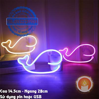 Đèn led neon cá voi