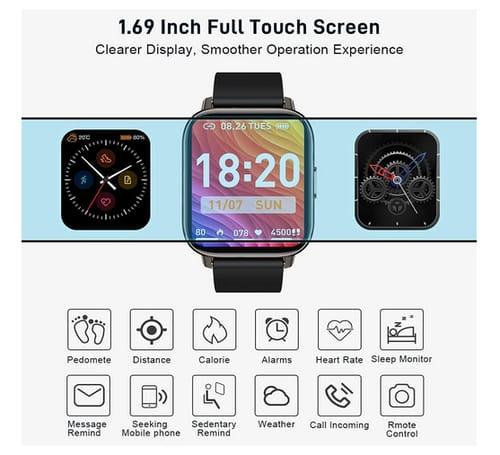 Motast P32 24 Sports Modes Fitness Tracker Smart Watch