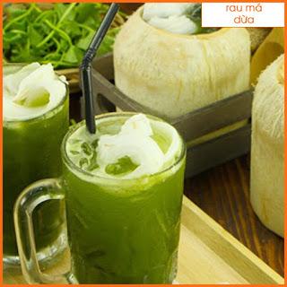 Pha chế đồ uống - Cách làm nước Rau má dừa
