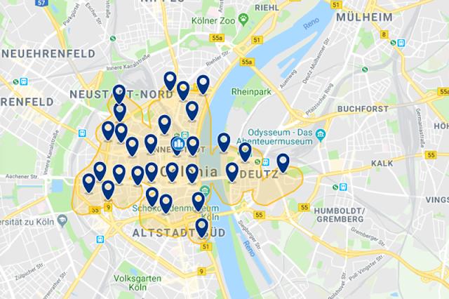 Melhor região para se hospedar em Colônia
