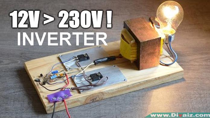 Skema Rangkaian Inverter Merubah 12 Volt DC ke 230 Volt AC
