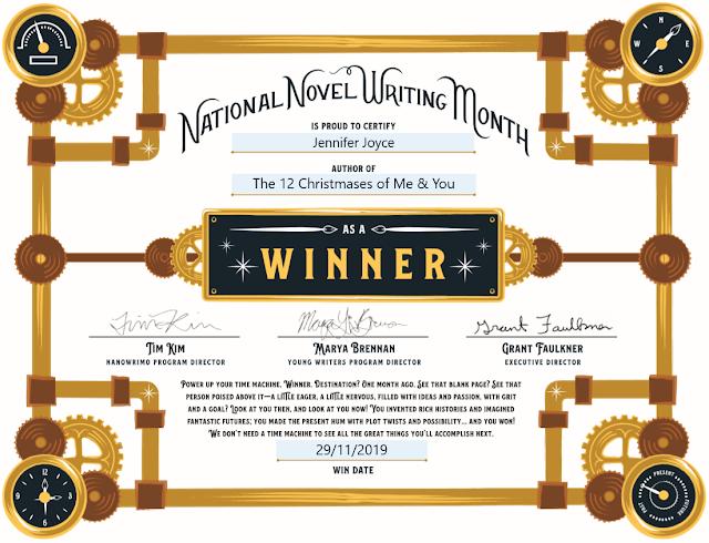 Nanowrimo 2019 Winner Certificate