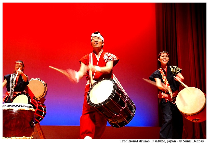 Traditional drummers, Osafune, Japan - Images by Sunil Deepak