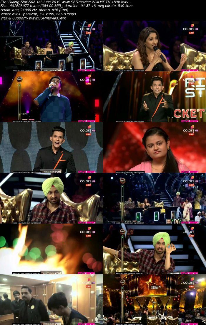 Rising Star S03 1st June 2019 HDTV 480p Full Show Download
