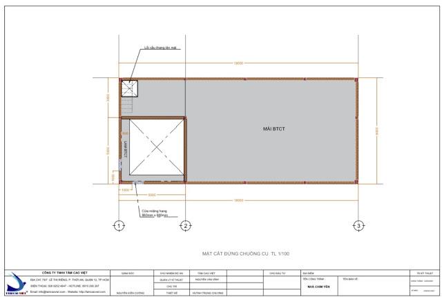 Thiết kế nhà yến 8x18x3 tại Tri Tôn An Giang
