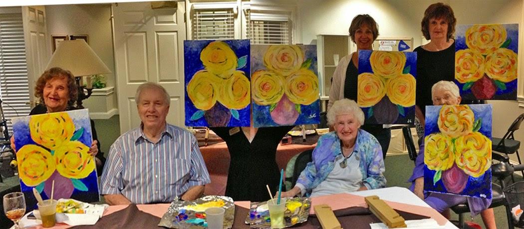 Painting Party With Senior S K M Radford Art