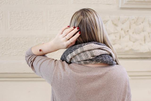 Strick Kleines Schwarzes Kleid ootd Modeblog Fashion Blogger Layering Look