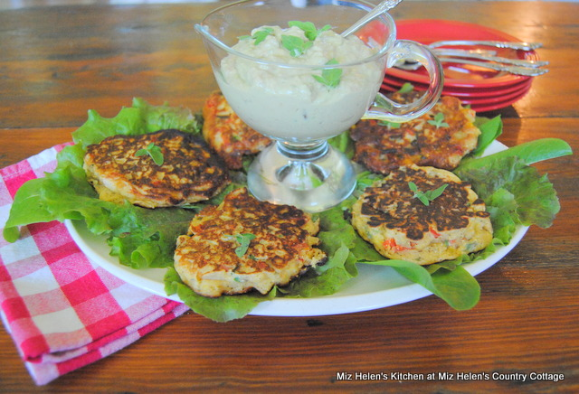 Mexican Corn Cakes With Avocado Cream at Miz Helen's Country Cottage