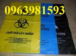 Túi đựng rác y tế, túi rác y tế, túi rác y tế màu đen giá rẻ