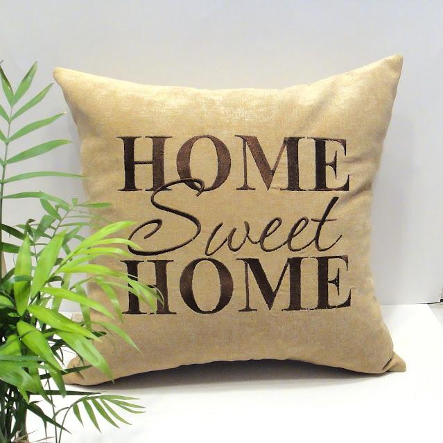"""Декоративная подушка в гостиную, чтобы гости спросили """"где взяла"""". Home sweet home. Ручная работа, доставка почтой или курьером"""