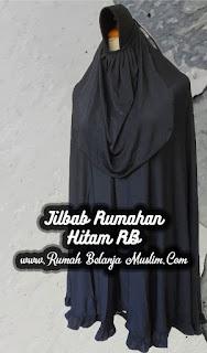 Jilbab Syar'i Rumahan Hitam RB