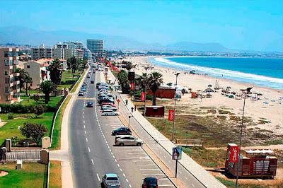 A view of Avenida del Mar, La Serena, Chile.