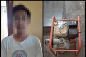 Polsek Lape Amankan Terduga Pelaku Pencurian Mesin Air
