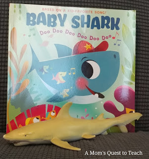 Baby Shark Book and shark toy