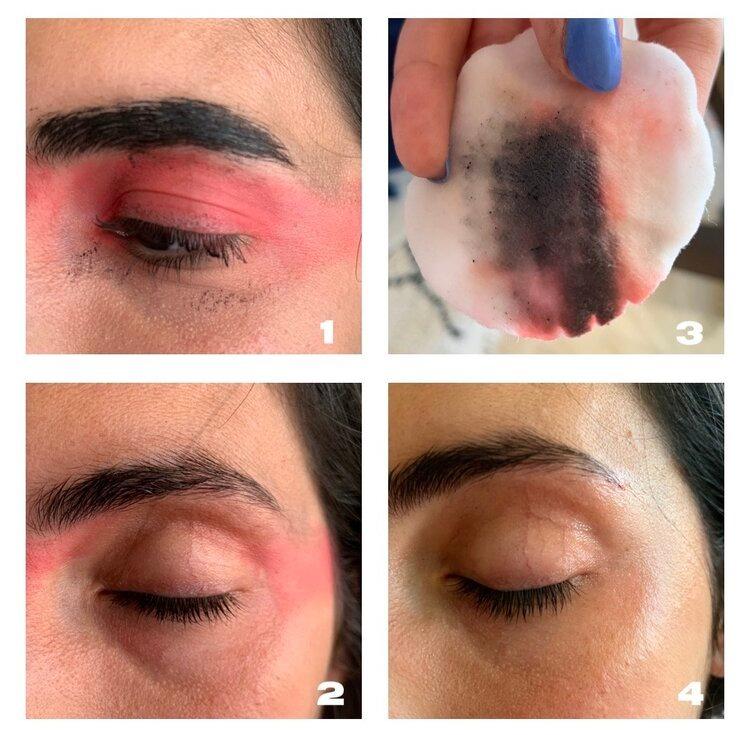 Sử dụng micellar water để xóa đi các lỗi make-up mà không cần phải rửa lại toàn bộ khuôn mặt
