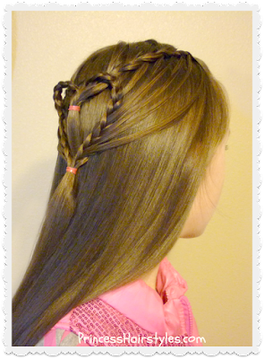 Cute braided heart hair for Valentine's day. Video tutorial.