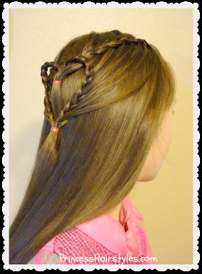 Cute braided heart hair for Valentine's day. Video tutorial.