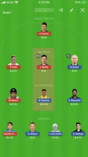 Dream 11 Prediction Adelaide vs Star 13th Match BBL T20 Captain & Vice Captain