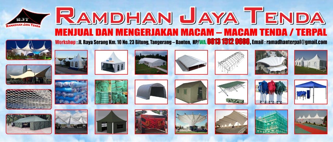 Menjual dan mengerjakan tenda sarnafil, tenda membran, jaring pengaman proyek dan terpal plastik