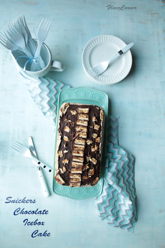 Snickers Chocolate Icebox Cake