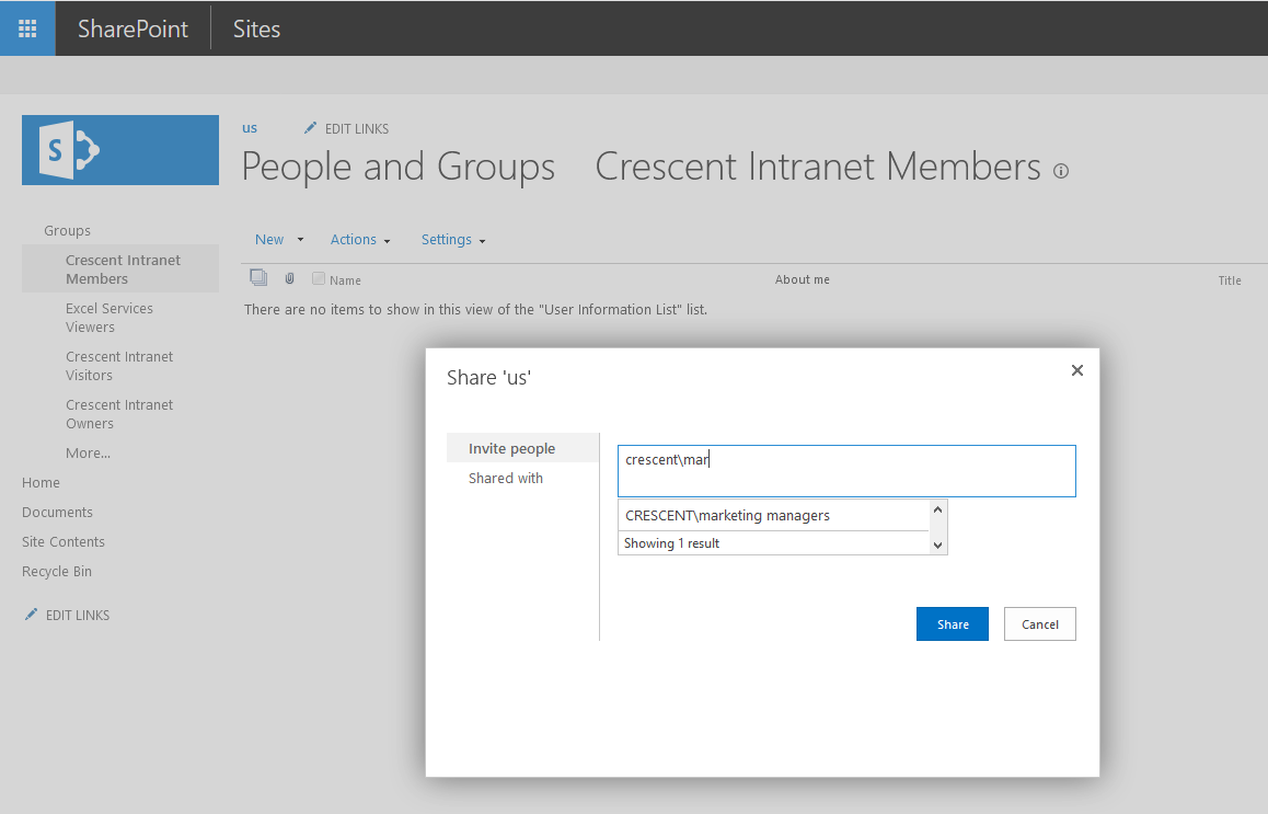 sharepoint add active directory group to sharepoint group