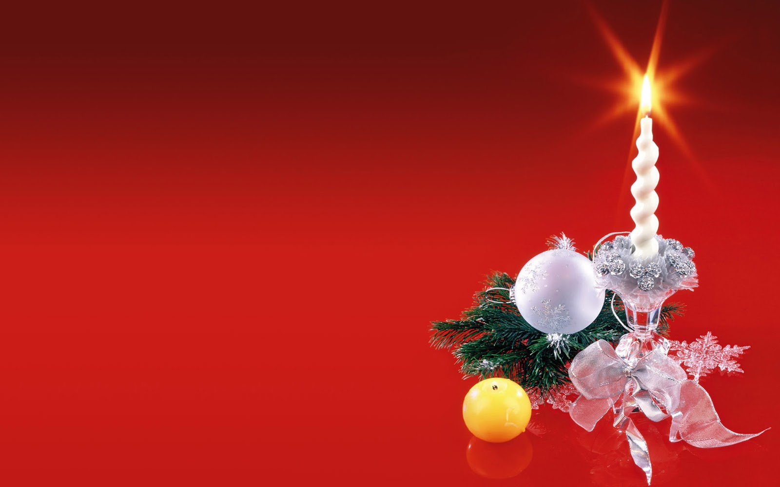 Christmas Landscapes: Wallpaper Christmas Candles