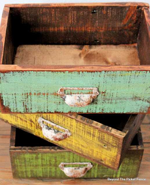 Stray Drawers Made From Pallet Wood