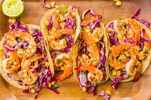 Grilled Shrimp Tacos with Sriracha Slaw - food-drink-recipes.com