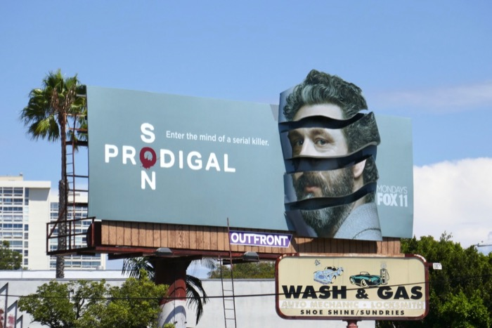 Michael Sheen Prodigal Son 3D extension billboard