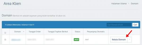 kelola domain ~ cara mengganti domain blog