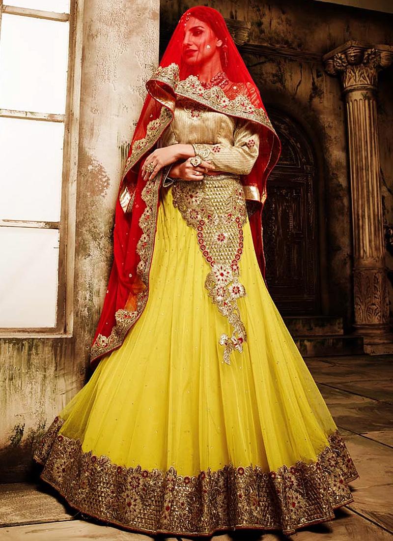 5 Stunning Yellow Lehenga's for Wedding Functions