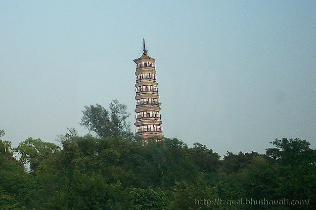 Pazhou (Flower) Pagoda in Guangzhou close to Shangri-la hotel. Also called Pa-Chow or Whampoa Pagoda.