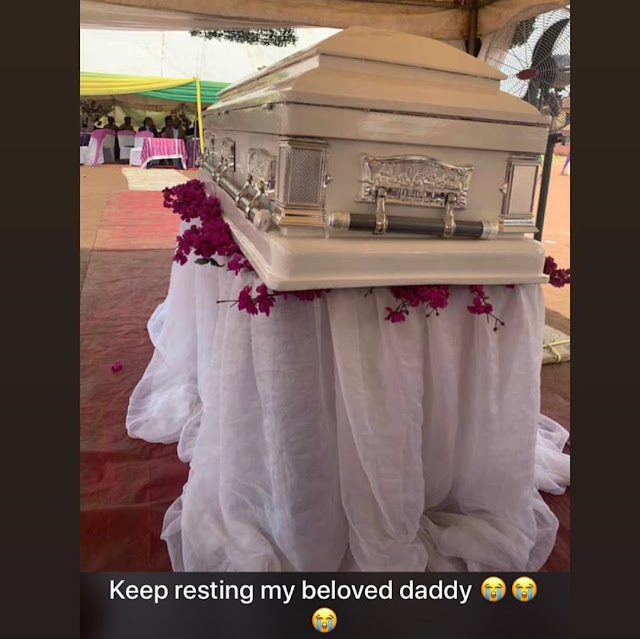 Nina Ivy buries her father amid tears