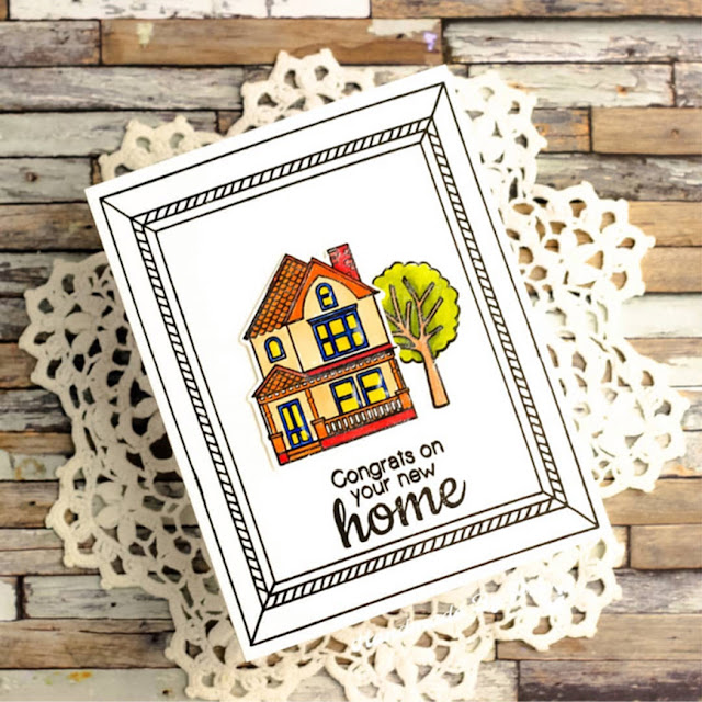 Sunny Studio Stamps: Happy Home Customer Card by Handmade By Pri