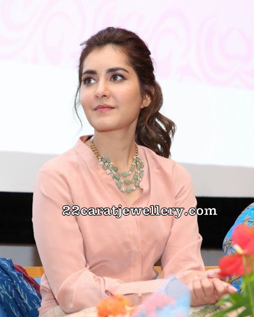Raashi Khanna Light Emerald Beads Set
