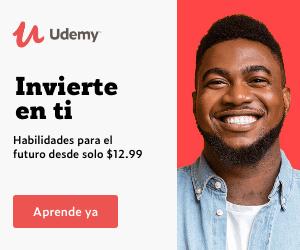 Promoción Udemy Invierte en tí