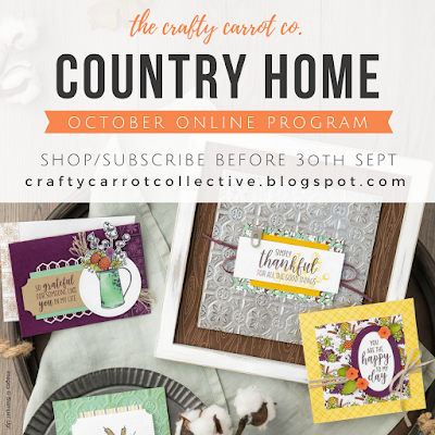 Country Home Online Craft Classes OCTOBER 2018 - The Crafty Carrot Co.
