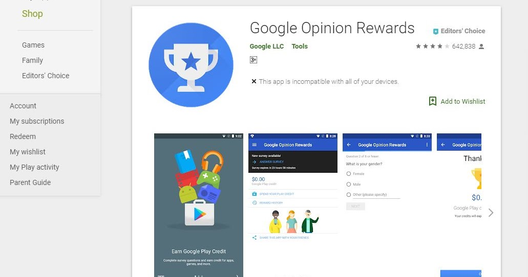 apps to earn google play credit