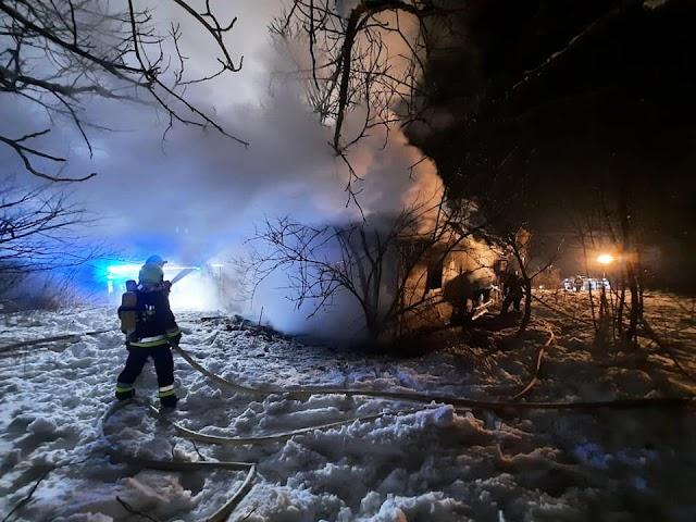 Pożar pustostanu w Gogołowie